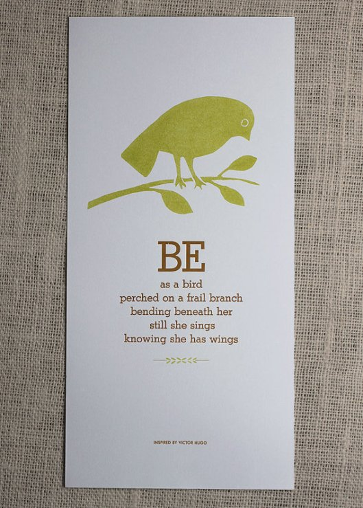 Be as a Bird
