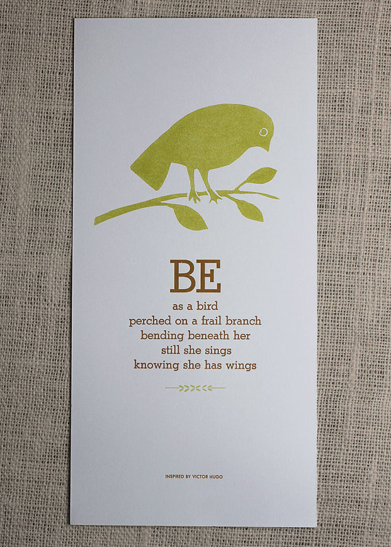 Be as a Bird