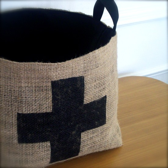Brin and Nohl - Coffee Sack Basket, $39.99