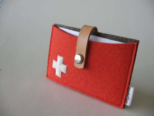 Ecolution - Wool Felt Business Card Holder, $19