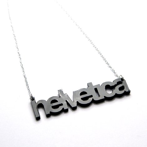 Plastique - Helvertica Necklace, $22
