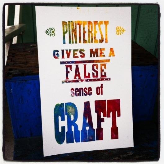 Pinterest Letterpress Poster, $25