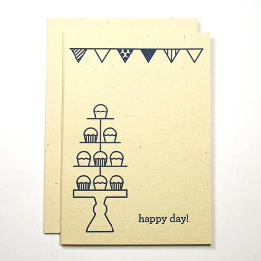 Happy Day Letterpress Card, $4.50