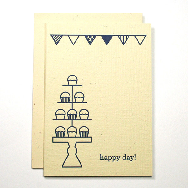 Happy Day Letterpress Card, $4.50