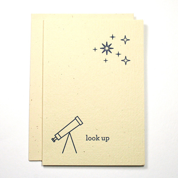 Look Up Letterpress Card, $4.50