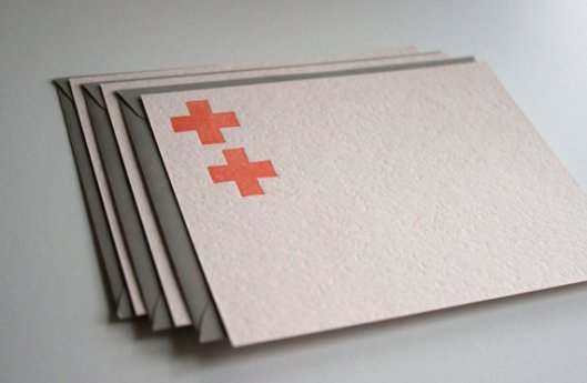 Eva Moon Press - Set of 3 Letterpress cards, $7