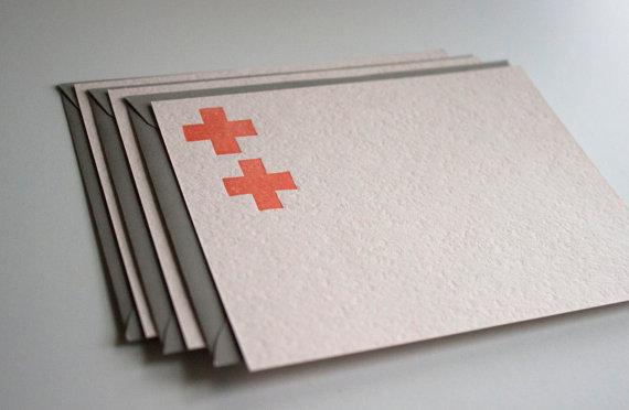 Eva Moon Press - Set of 3 Letterpress cards, $7