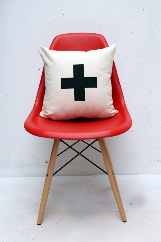 "Zana Products - Swiss Cross 16"" Pillow, $29"