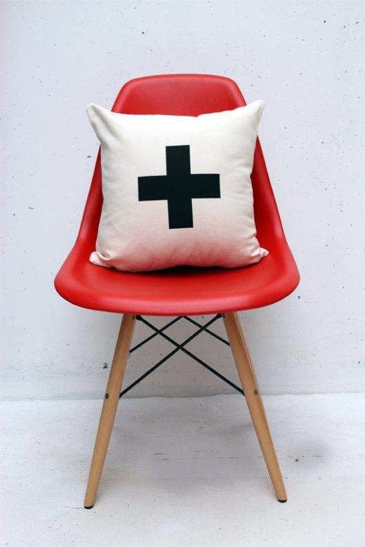 """Zana Products - Swiss Cross 16"""" Pillow, $29"""