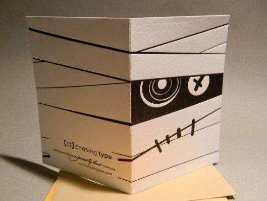 Chasing Type - Mummy Letterpress Card, $4