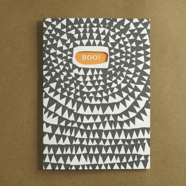 Egg Press - Boo Letterpress Card, $5