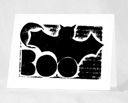 Raw Art Letterpress - Boo Bat, $4.50
