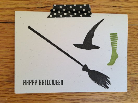 Squeeze My Hand - Witch Letterpress Card, $6.50