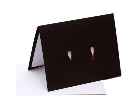 Starfly Creations - Fangs Die Cut Card, $10