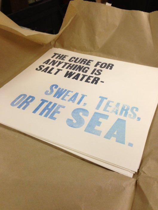 Sweat Tears or the Sea