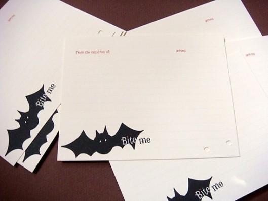 Terri Taylor Design - Just Batty Recipe Card Set of 12, $10