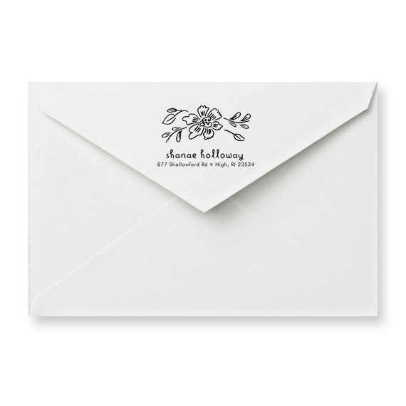 Blossom Personalized Address Stamp, $34