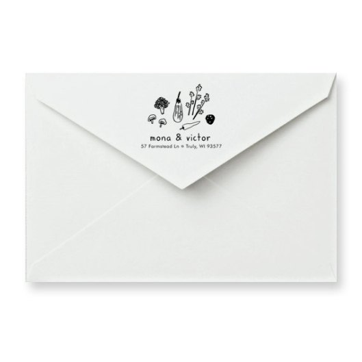 Veggie Custom Address Rubber Stamp, $34