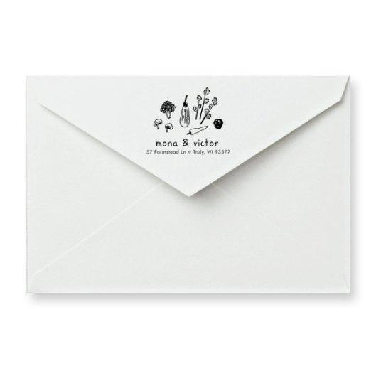 Veggie Custom Address Rubber Stamp, $34