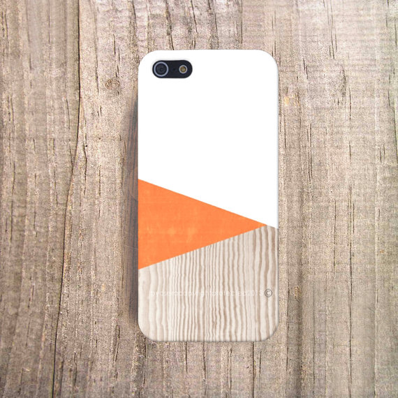 Cases by Csera - Orange Wood Print iPhone 5 Cover