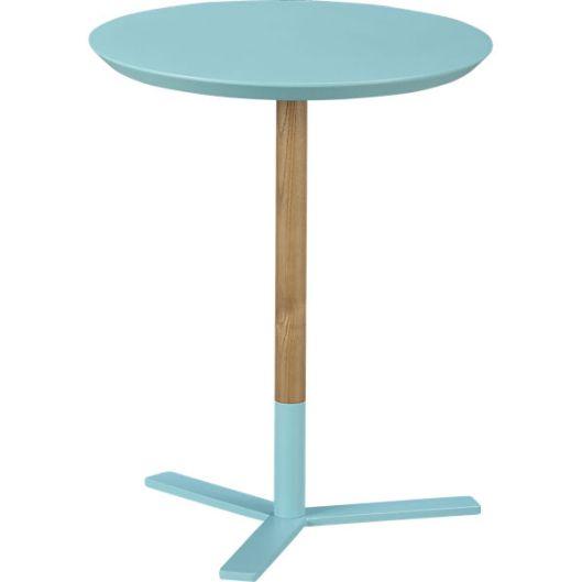 CB2 Discus Aqua Side table - $79.95