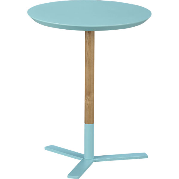 CB2 Discus Aqua Side table - $79.95