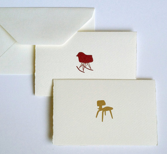 Eames Chair cards, set of 4 each of 2 designs, $16