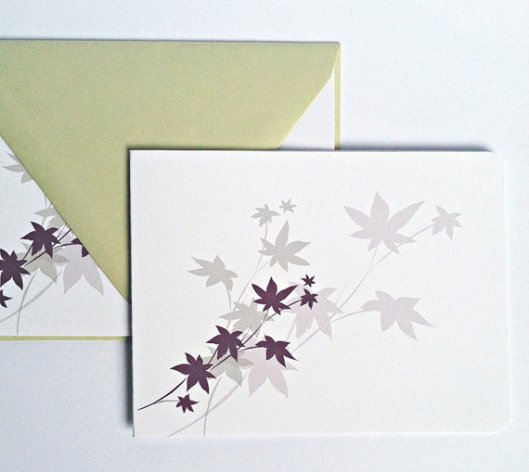 Modern Maple Card, set of 2, $5