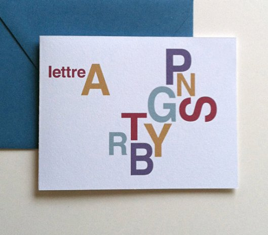 Letters cards, set of 8, $18