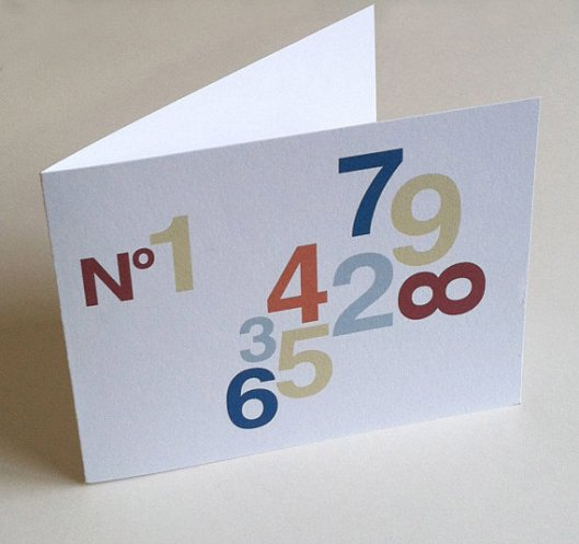 Numbers Cards, set of 8 - $16