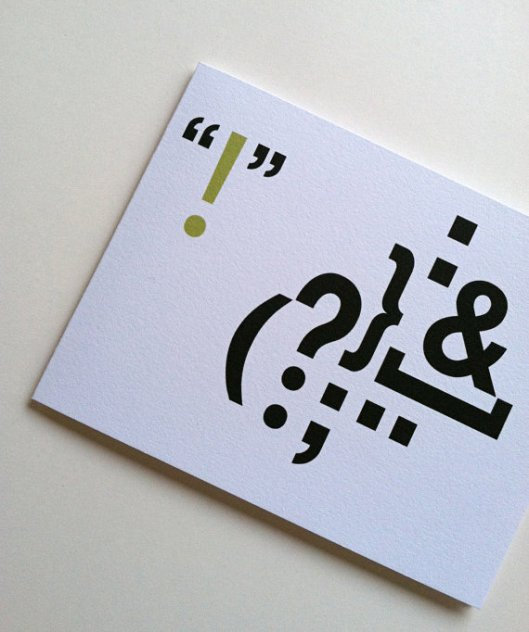 Punctualtion Cards, set of 6, $13.50