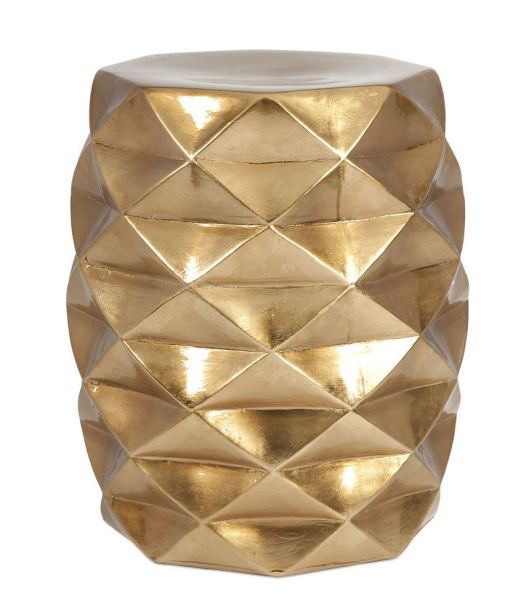 Facet Gold Garden Stool, $149