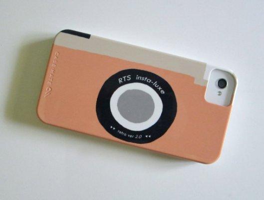 Red Tile Studio Camera Phone in Tangerine, $36