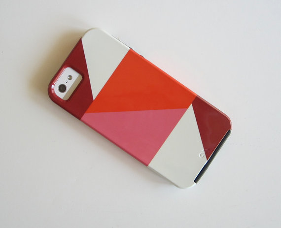 Red Tile Studios - Colorblock Pink iPhone 5 Cover, $36