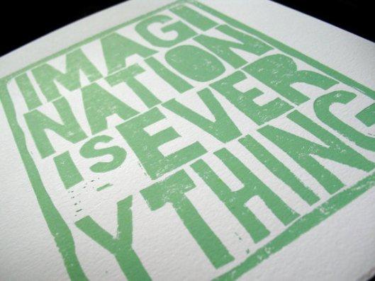 "8"" x 10"" Imagination Print, $22"