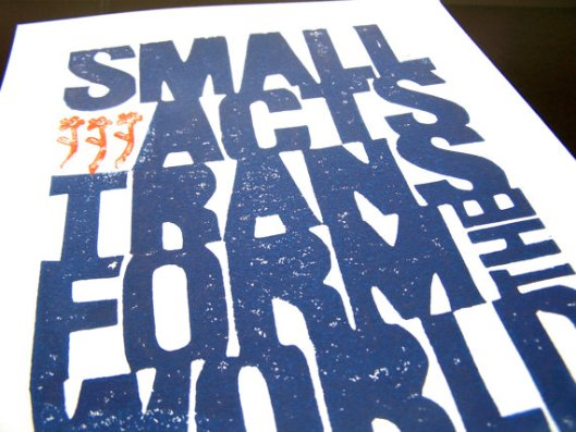 "8"" x 10"" Small Acts Print, $22"