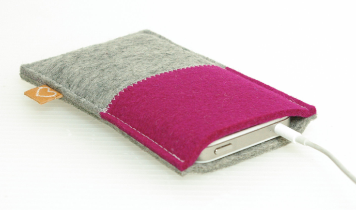 Westerman - Pink Felt iPhone 5 Sleeve, $30