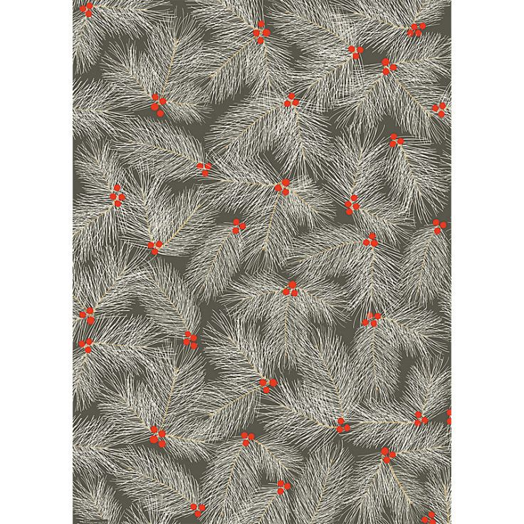 Paper Source - Pine Branch on Slate, $7.95 roll