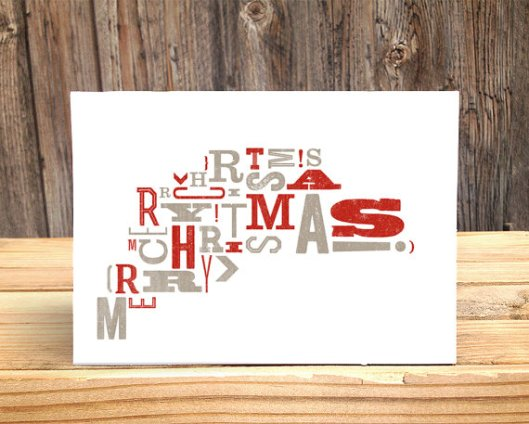 Fog Mountain Press - Merry Christmas Typography, $4.50