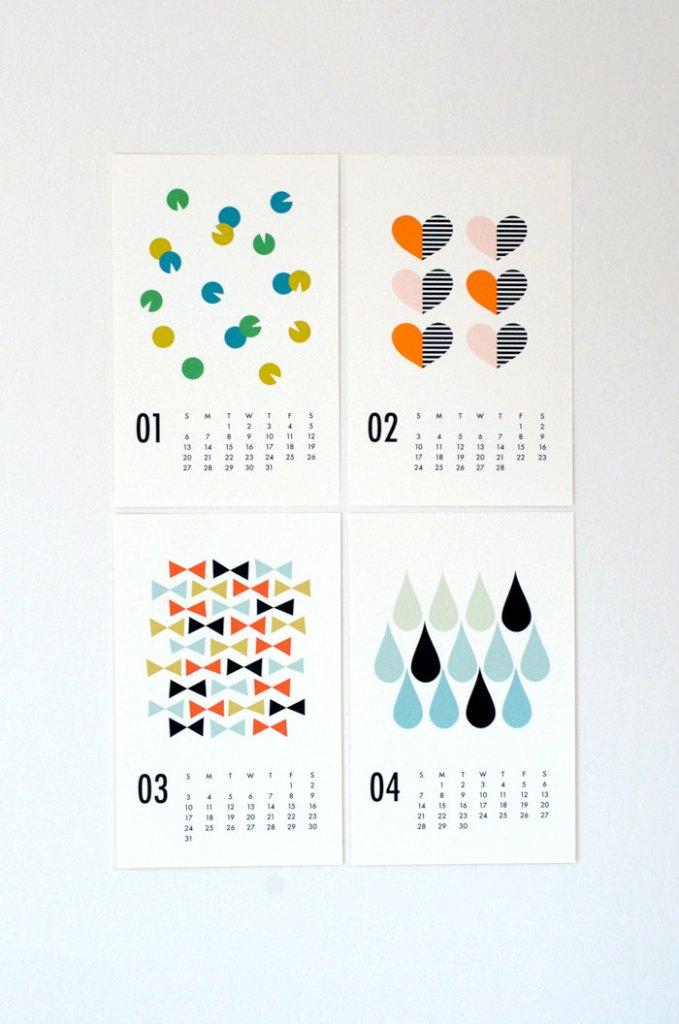 Calendar Graphic Design Images : Product design page blue bergitt
