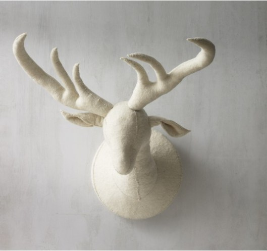 Dwell felt-deer-head-via-dwell-studio