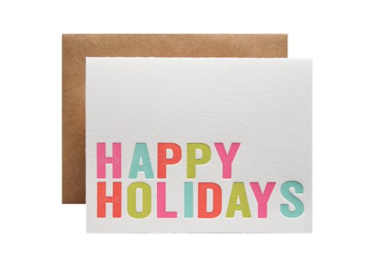Parrot Design Studio - Happy Holidays Multi set of 6, $18