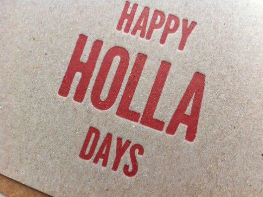 Lucky 8 Letterpress - Holla Days set of 5, $12