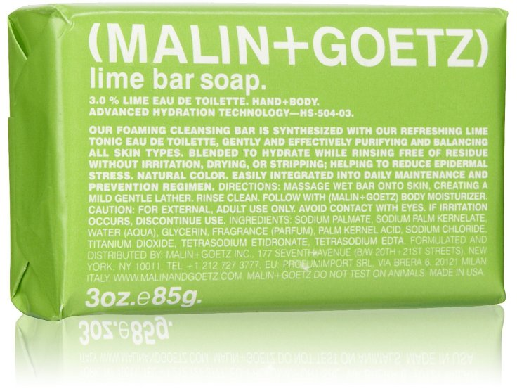 Malin+Goetz Lime Bar Soap, $10