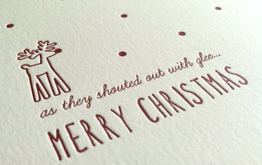 Little Owl Letterpress - Rudolph, $5