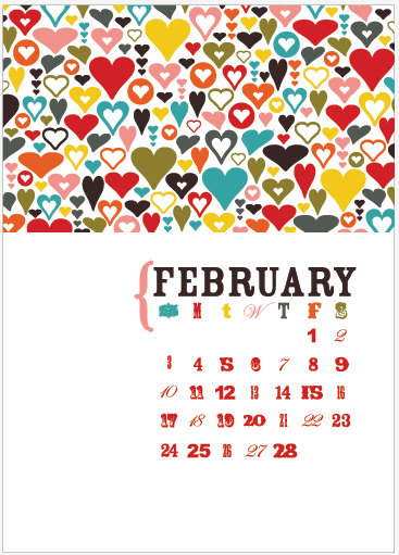 Page by Paige - Printable 5x7 Calendar, $3