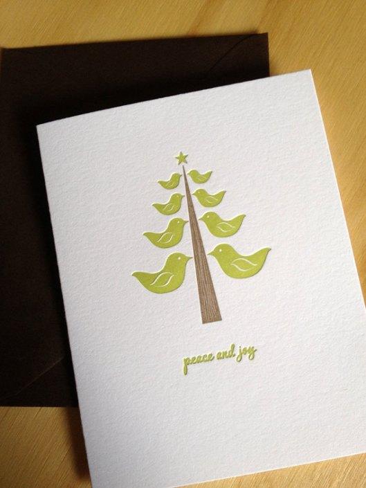 Little Trees Studio - Green Bird Tree, $4.50