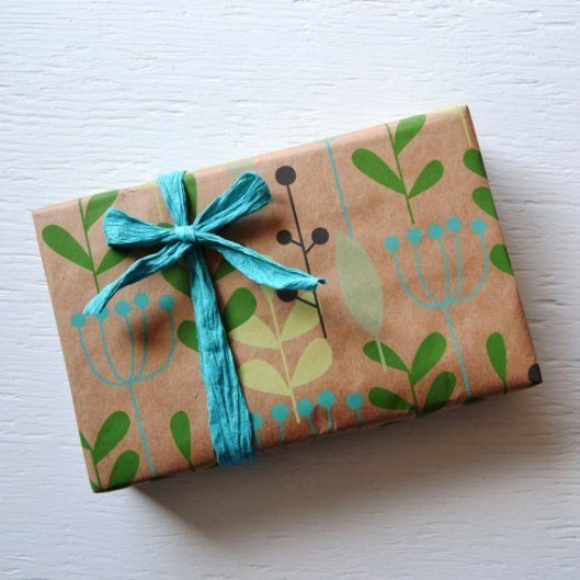 Paper and Present - Berries and Leaves Gift Wrap, $25 big roll
