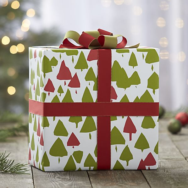 Crate and Barrel - Trees gift wrap, $5.96