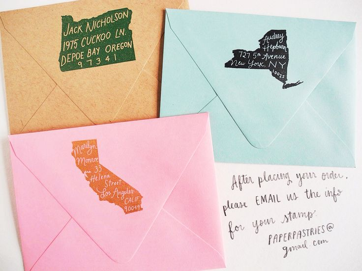 The Original Home State Personalized Return Address Stamp, $60